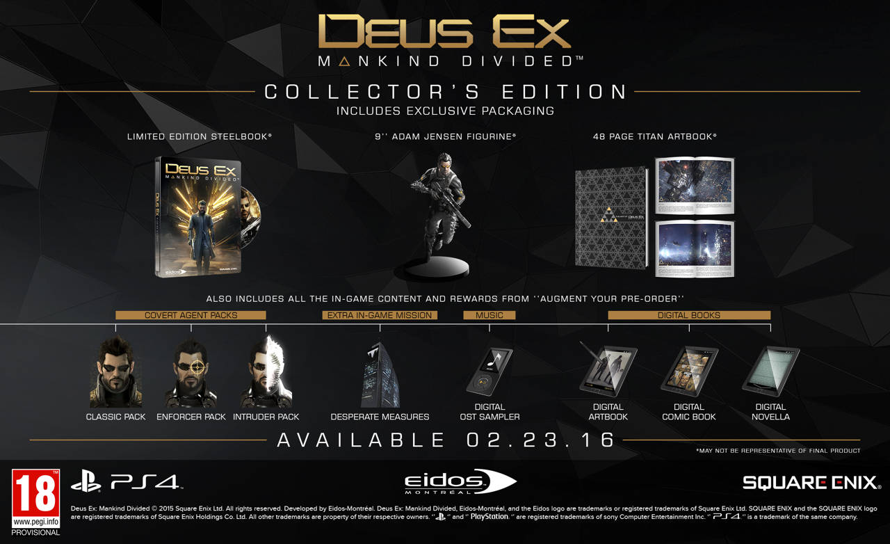 DEUS EX MANKIND DIVIDED collector
